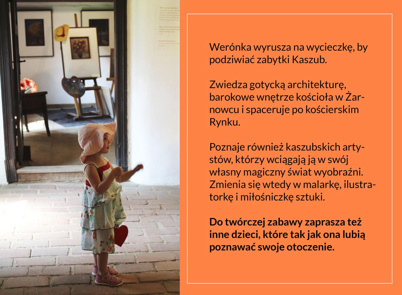 dziewczynka obserwuje wystawę w skansenie we Wdzydzach
