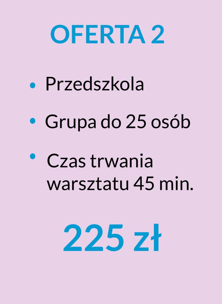 ilustracja z ofertą dla przedszkoli 225 zł