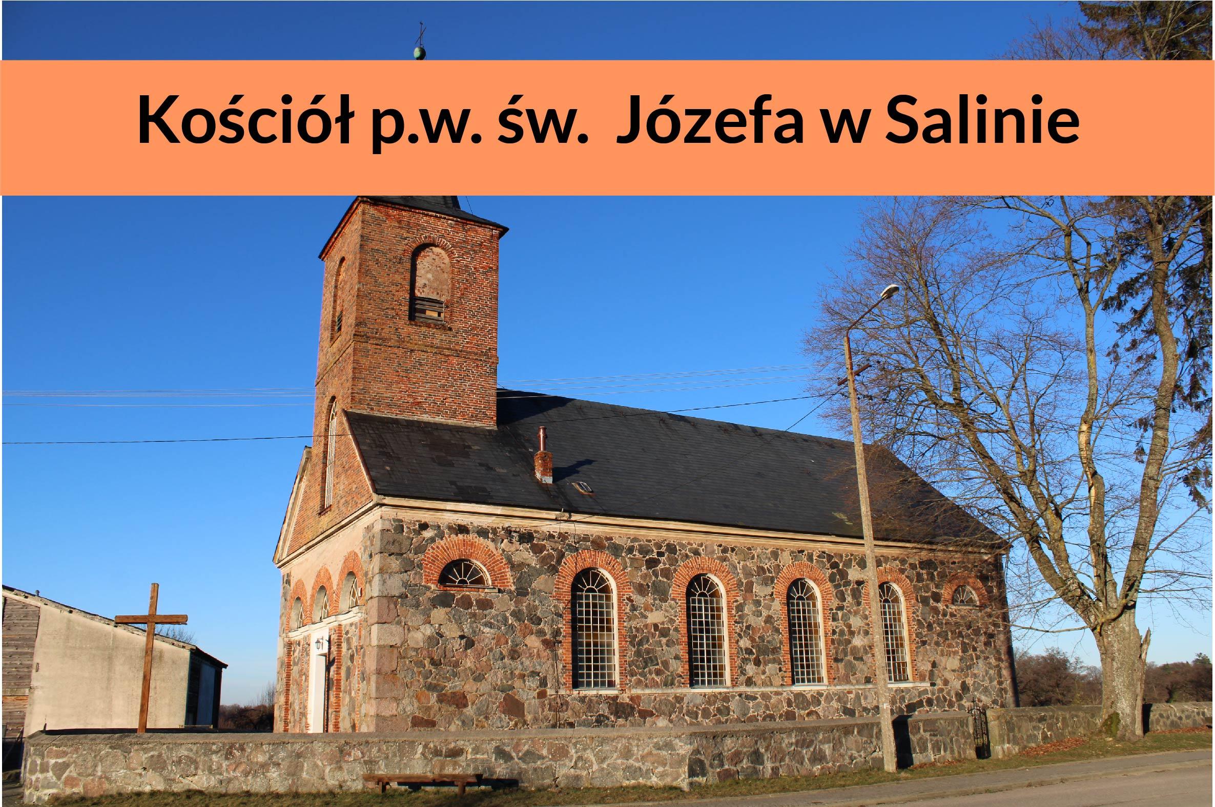 Bryła kościoła neoromańskiego w Salinie
