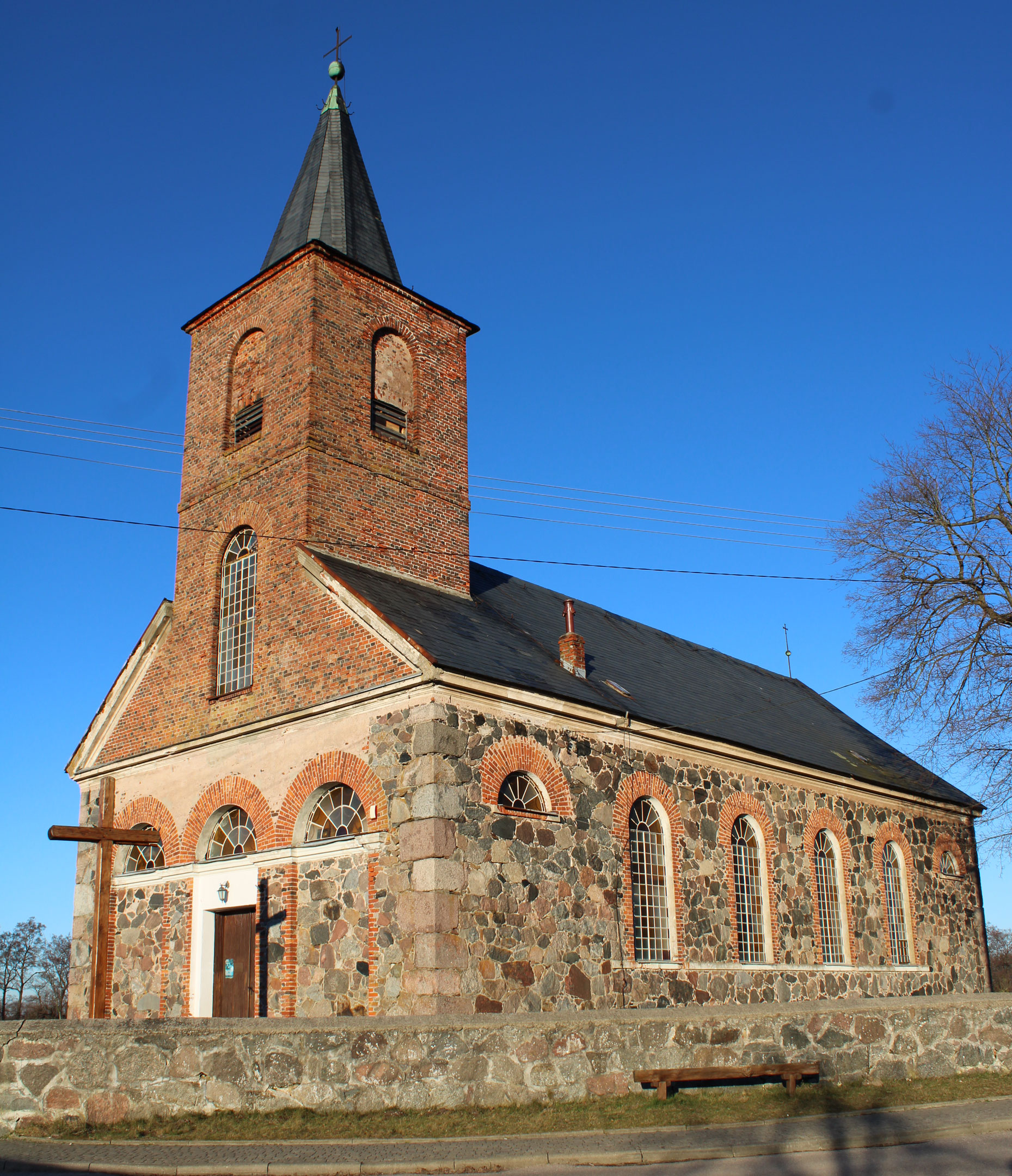 elewacja zachodnia kościoła
