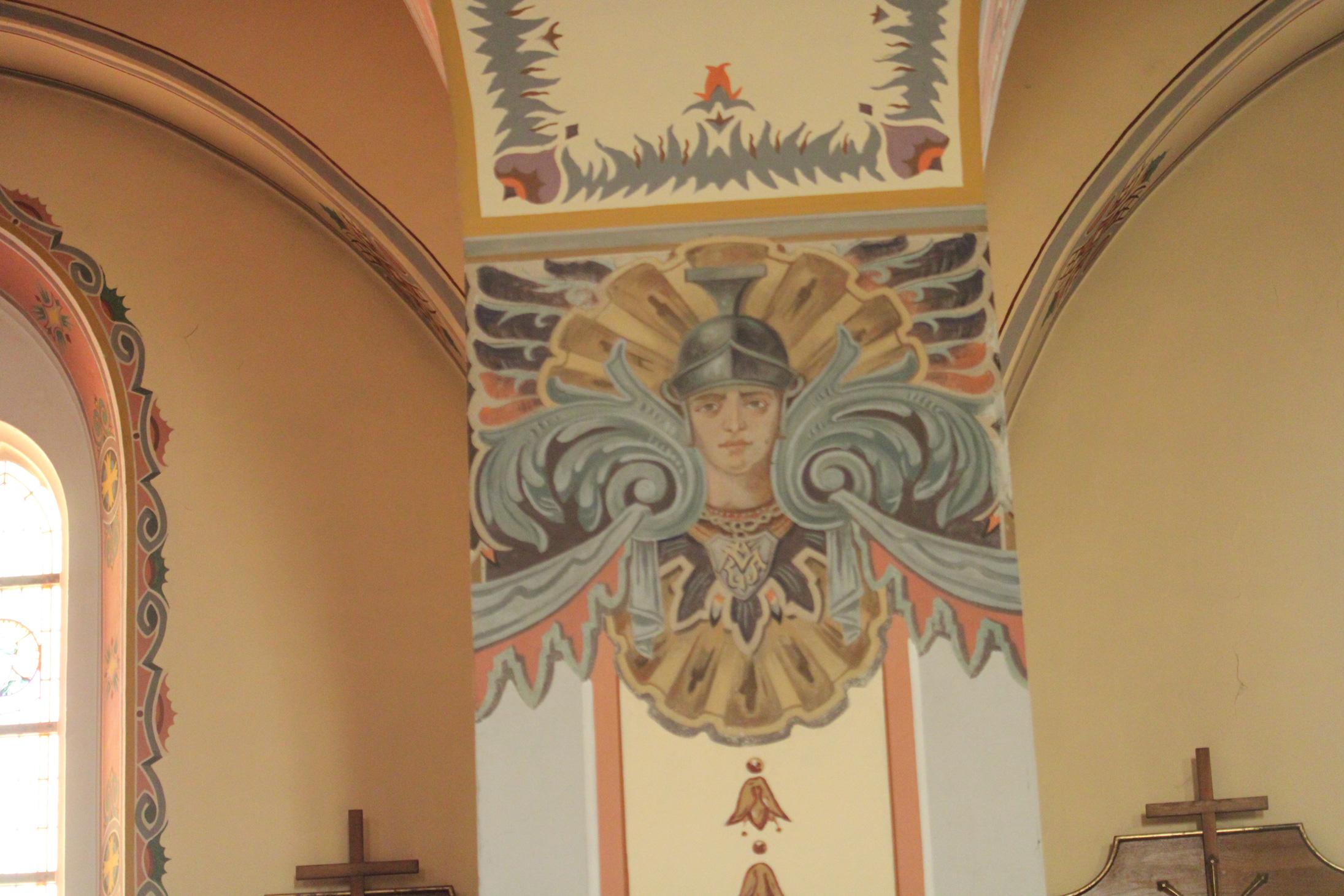 Wizerunek na filarze. Polichromia
