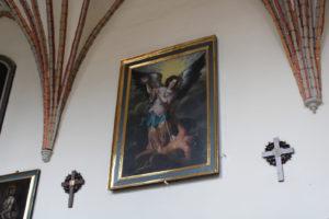Obraz Michała Archanioła w kościele w Kartuzachh