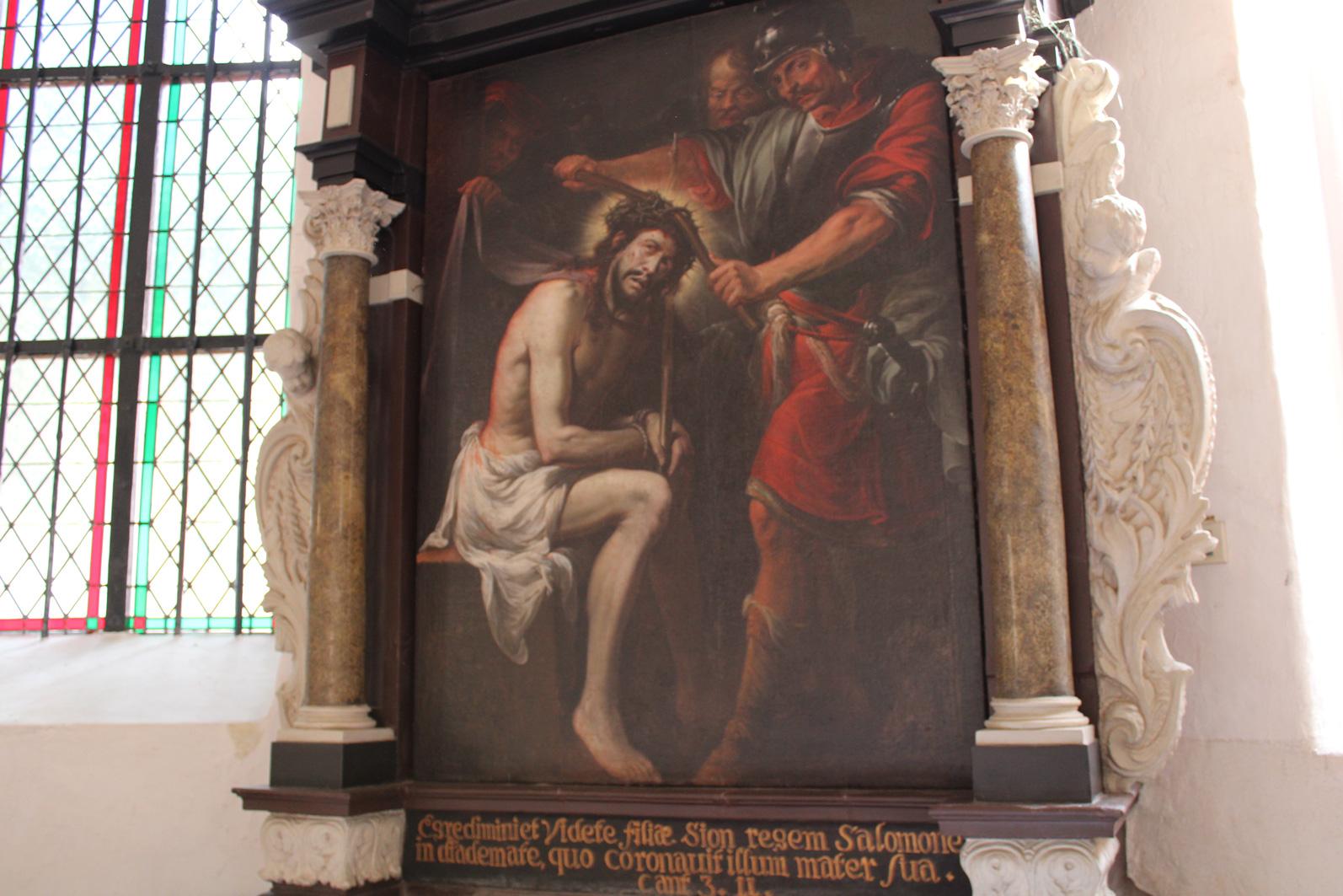 Rycerze nakładają koronę cierniową obraz Stecha
