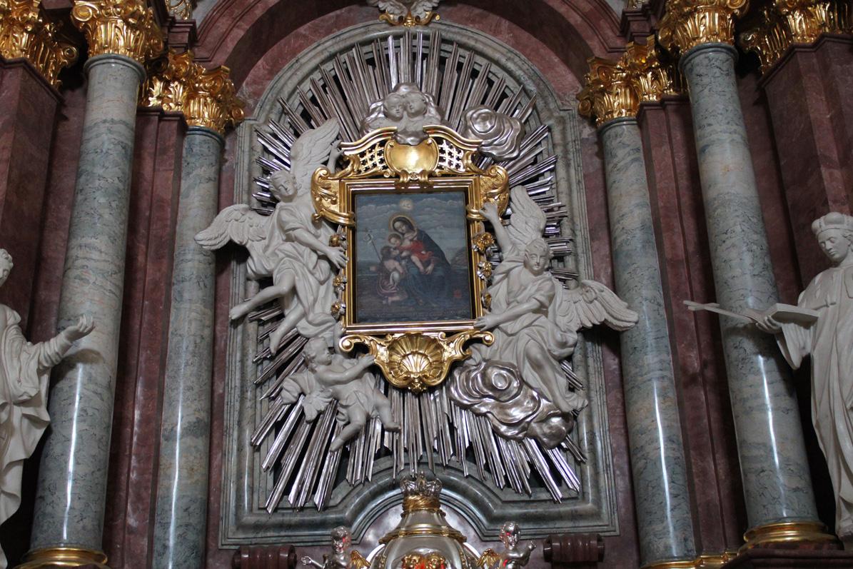 obraz w ołtarzu głównym w kosciele jezuickim w chojnicach
