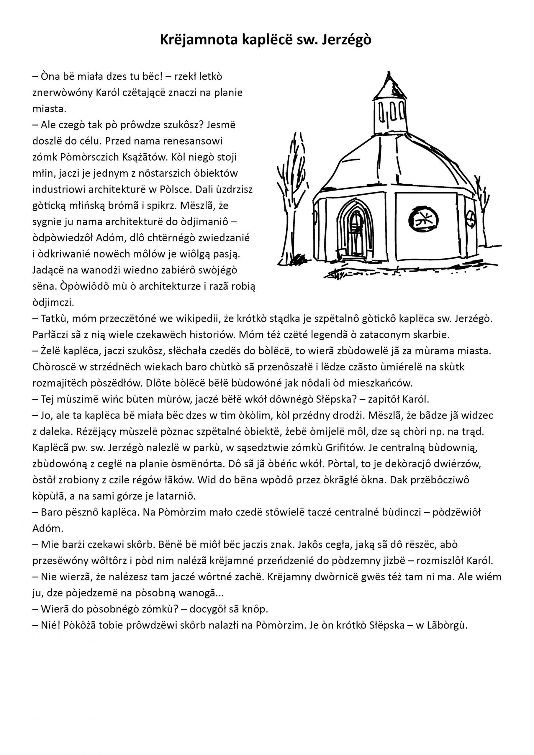 opowiadanie tekst w jezyku kaszubskim